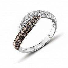 Кольцо из белого золота Кьяра с бриллиантами