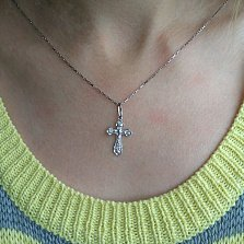Серебряный крестик Воодушевление