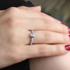 Кольцо из белого золота Ориеста с бриллиантами