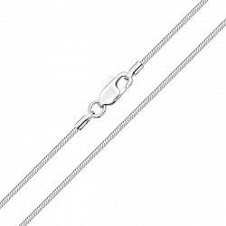 Серебряная цепочка в плетении снейк, 0,75 мм 000118313