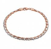 Золотой браслет Дуализм в комбинированном цвете металла