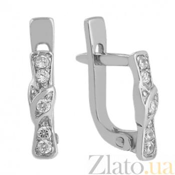 Серьги из белого золота с бриллиантами Сельви VLN--123-1602*