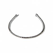 Золотой браслет с черными бриллиантами Кобра