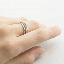 Кольцо из белого золота Лозанна с фианитами
