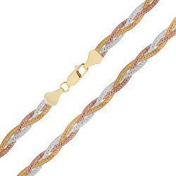 Серебряная цепь с позолотой 000026304
