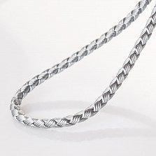 Серебристый шнурок Кардиш с гладкой золотой застежкой, 3мм