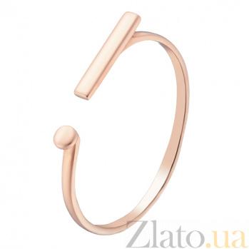 Золотое кольцо Восклицательный знак в красном цвете 000032629