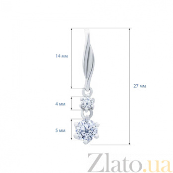 Серебряный кулон с цирконом Синтия AQA--XJT-0089-P