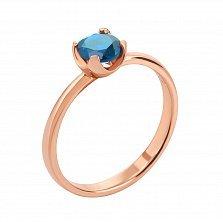 Кольцо из красного золота с топазом 000125433