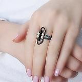 Серебряное кольцо Ночное рандеву Доминика