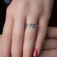 Серебряное кольцо Heart Queen с фианитами