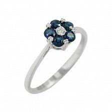 Золотое кольцо с сапфирами и бриллиантами Инесс