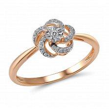 Кольцо Карусель из красного золота с бриллиантами