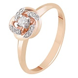 Золотое кольцо с бриллиантами Летисия