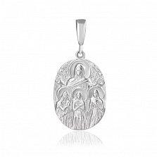 Серебряная ладанка Благословение
