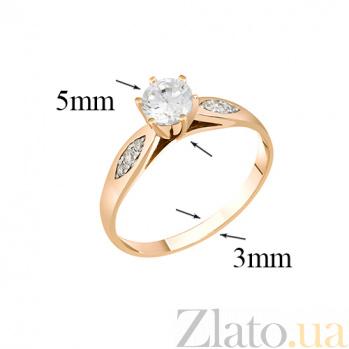 Золотое кольцо с фианитами Мирта 000022967