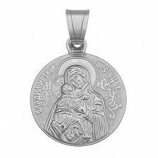 Серебряная ладанка Божья Матерь Владимирская