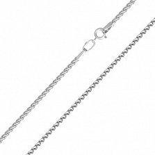 Золотая цепочка Легкий колосок в белом цвете, 1мм