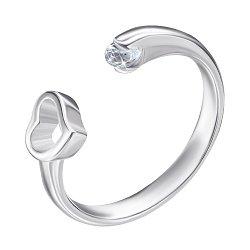 Серебряное кольцо с цирконием 000125468