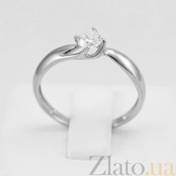 Кольцо из белого золота Нина с цирконием 000029234