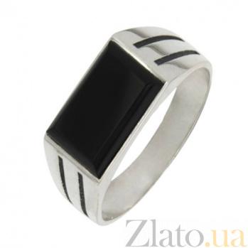Серебряное кольцо с ониксом Фаворит BGS--549к