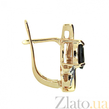 Золотые серьги с бриллиантами и сапфирами Равенна ZMX--BLS-1040_K