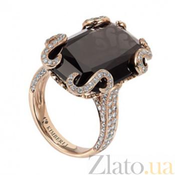 Золотое кольцо с раухтопазом и бриллиантами Клеопатра KBL--К5001/крас/раух