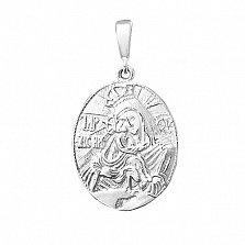 Ладанка из серебра Божья Матерь Почаевская