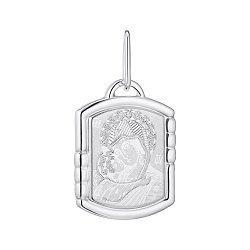 Серебряная ладанка Божья Матерь Владимирская 000148425
