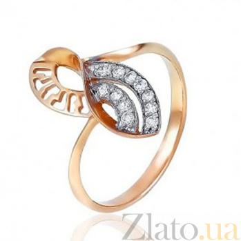 Золотое кольцо  с фианитами Бесконечность EDM--КД0391