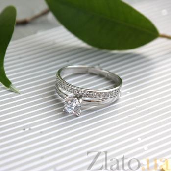 Золотое кольцо с фианитами Lusy SVA--1101429102/Фианит/Цирконий