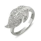 Золотое кольцо с белыми сапфирами Жоселин