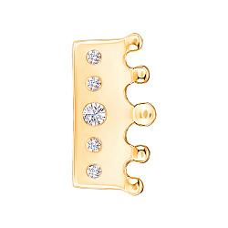 Серебряный шарм с позолотой и фианитами 000145186