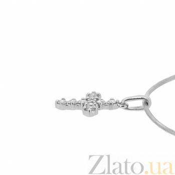 Золотой декоративный крестик Элия с бриллиантами 000021666