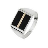 Серебряный перстень Джонас с ониксом