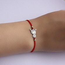 Шелковый браслет со вставкой Девочка