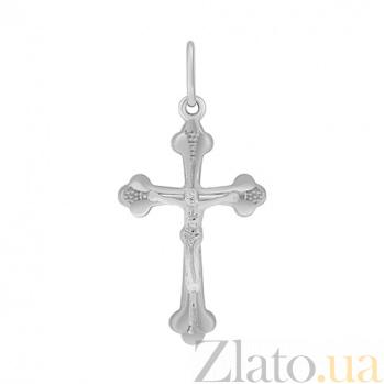 Крестик из белого золота Духовная идилия 000032993