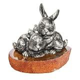 Серебряная статуэтка Зайчата
