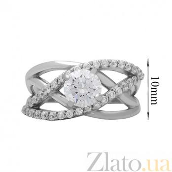 Серебряное кольцо с фианитами Изобилие света 000026553