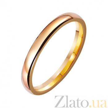 Золотое обручальное кольцо Гладкая судьба TRF--411899