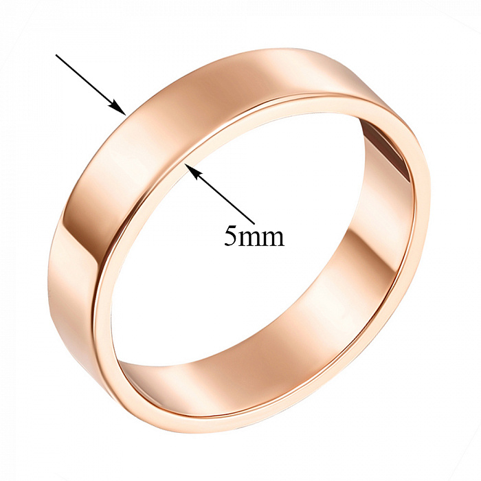 Обручальное кольцо из красного золота Американская модель 000000349