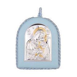 Серебряная икона Божией Матери 000141196