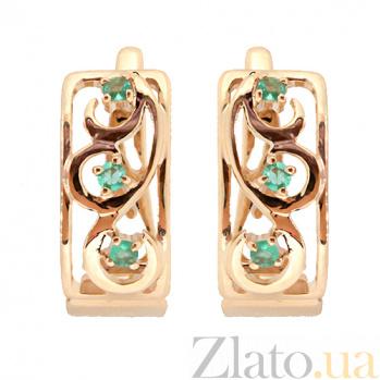 Золотые серьги с изумрудами Сильва ZMX--EE-6867_K