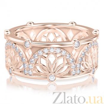 Обручальное кольцо в розовом золоте Восторг: Аромат Солнца с топазами 4017