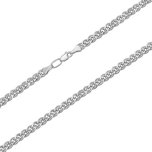 Серебряная родированная цепь Нонна  LEL--11517