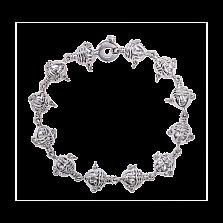 Золотой браслет Дух предков в белом цвете металла