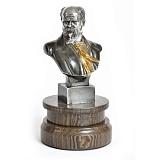 Серебряная статуэтка бюст Т.Г. Шевченко