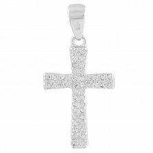 Серебряный декоративный крестик Шимана с цирконием