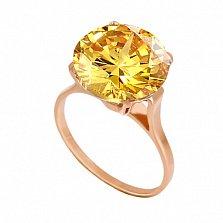 Золотое кольцо с цитрином Диодора