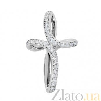 Крестик из белого золота Грация с бриллиантами VLA--33919